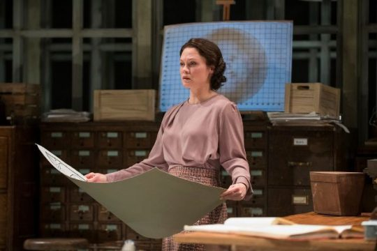 Rosalind Franklin (Chaon Cross) the heroine of Photograph 51 at Court Theatre. (MichaelBrosilow photo)