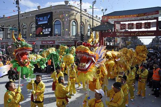 Chinatown New Year's Parade (Photo courtesy of Chicago Chinatown Community Foundation)