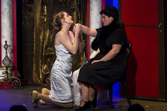 Sarah Ohlson and Kayla Muldoon in Brook Astor's Last Affair