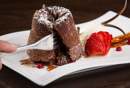 A dessert at the Chocolate Sanctuary. (Photo courtesy of Chocolate Sanctuary)