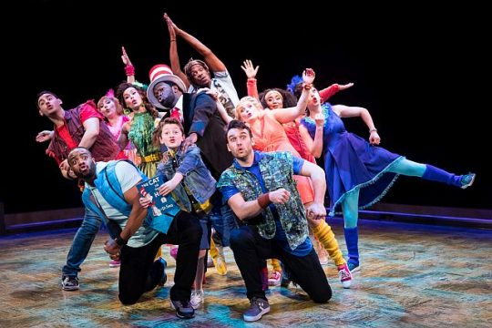 Cast of Seussical at Marriott Theatre. (Justin Barbin photo)
