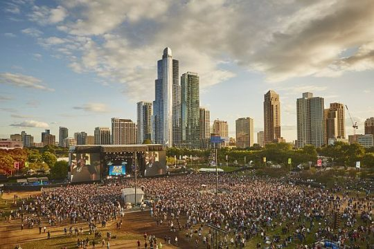 Lollapalooza arial photo by Cambria Harkey. Photo courtesy of Lollapalooza)