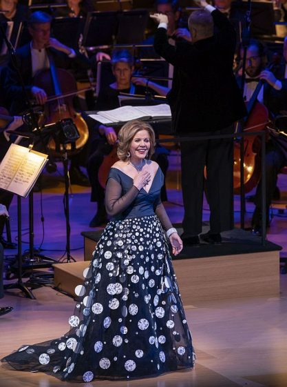 Renee Fleming at the Lyric of Chicago in an anniversary concert. (Photo by Todd Rosenberg)