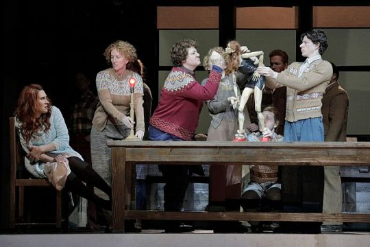 Brenda Rae and puppet in 'Ariodante' at Lyric Opera of Chicago. (Photo by Cory Weaver)
