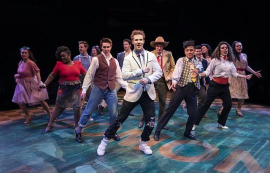 Aiden Wharton as Ren McCormack (center). (Liz Lauren photo)