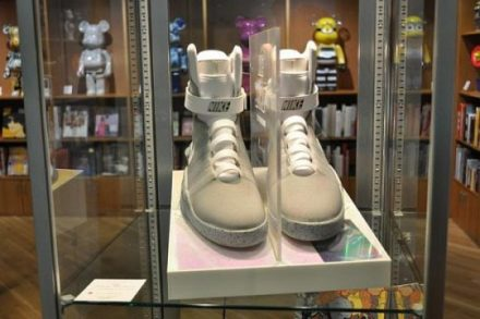 Back to the Future II shoes on display at the Museum of Contemporary Art .Chicago. (Photo courtesy of Heritage Auctions)