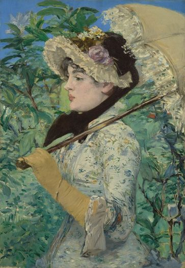 Jeanne (Spring); Édouard Manet (French, 1832 - 1883); France; 1881; Oil on canvas; 74 × 51.5 cm (29 1/8 × 20 1/4 in.); 2014.62 (Photo courtesy of Art Institute of Chicago)