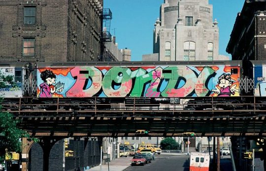 Graffitti art in NYC from the 70s and 80s celebrated in musical Graffiti Kings. (Photo courtesy of Jonathan Gross)
