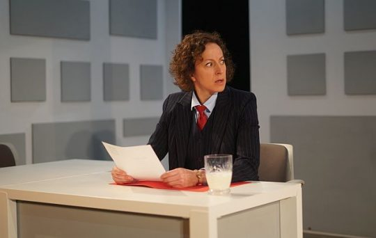 Tricia Rogers (Director Gross) in 'The Mem.' (Photo by Anna Gelman)
