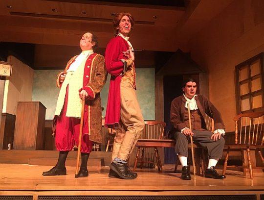 Edward Kuffert, Andrew Buel, Sean Barrett doing 'The Lees of Old Virginia.' (MadKap productions photo)