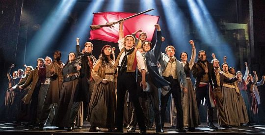 Cast of 'Les Miserables' singing 'One More Day.' (Matthew Murphy photo)
