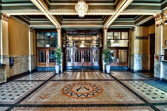 Lobby of the Athenaeum Theatre on Southport Ave., Chicago. (Photo courtesy of the Athenaeum Theatre )