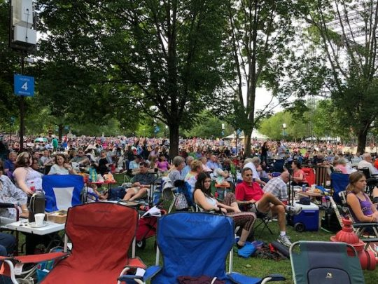 The annual Tchaikovsky Spectacular fills the lawn at Ravinia Festival. (J Jacobs photo)