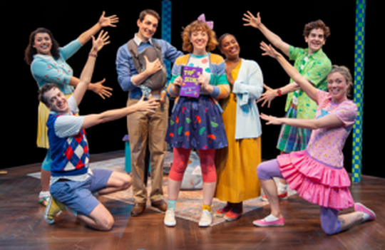 Cast of Junie B Jones at Marriott Theatre. (Photo courtesy of Marriott)