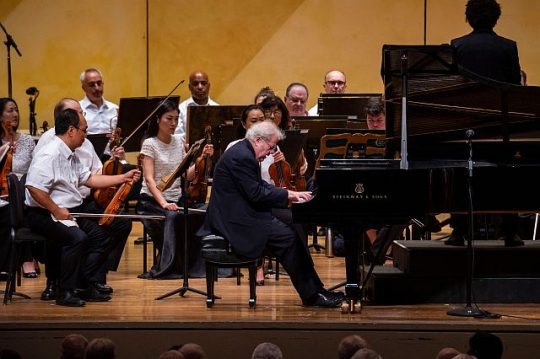 Emanuel Ax plays Brahms Piano Concerto No. 2 at Ravinia. Rafael Payare conducts the CSO in Beethoven's Symphony No. 3 at Ravinia Festival. (Ravinia Festival and Kyle Dunleavy photo)