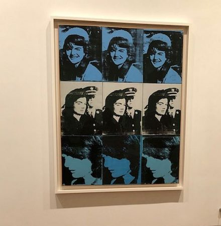 Andy Warhol, 1964, Nine Jackies. (J Jacobs photo