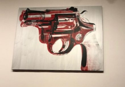 Andy Warhol, 1981-82, Gun (J Jacobs photo