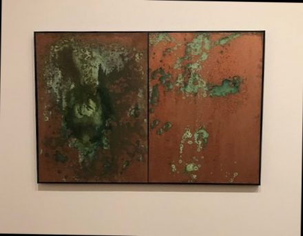 Andy Warhol, 1978 Oxidation Painting (J Jacobs photo)