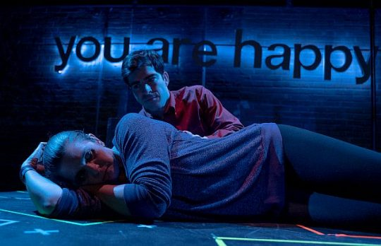 Michelle Mary Schaefer and Brendan Connell in You are Happy. (Photo by Matthew Freer)