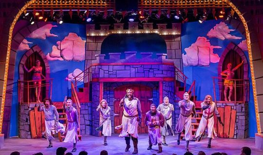 Monty Python's Spamalot at Mercury Theater. (Photos by Bret Beiner)