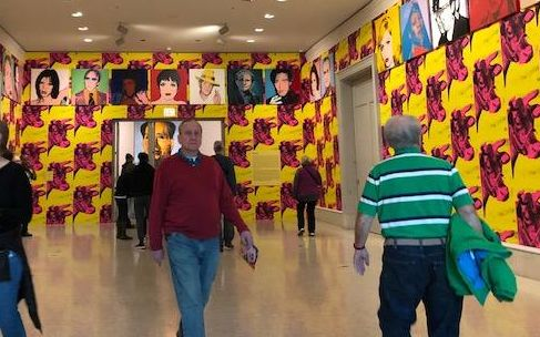 Celebrity and wallpaper works envite visitors into Andy Warhol exhibit at the Art Institute of Chicago (J Jacobs photo)