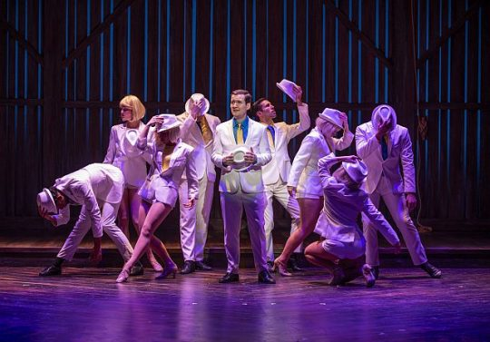 Cast of White Christmas at Theatre at the Center (Michael Brosilow photo)