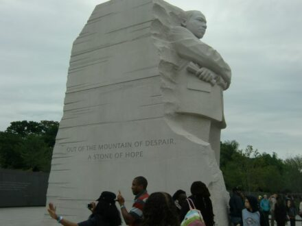 Martin Luther King Jr memorial in Washington DC. (J Jacobs photo)